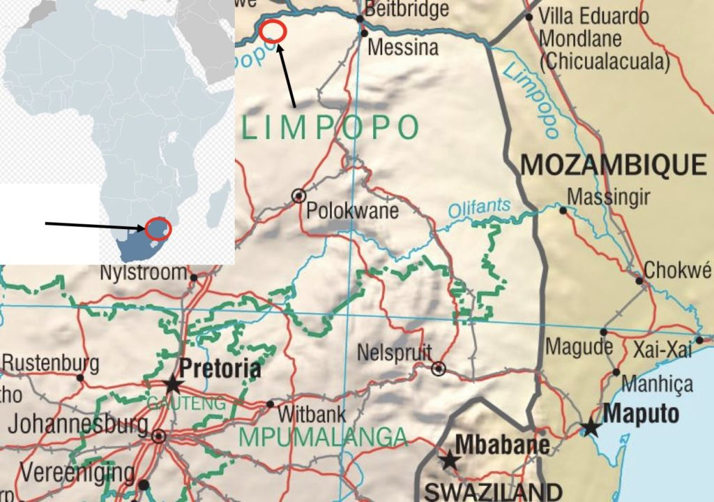 south africa hunting map limpopo