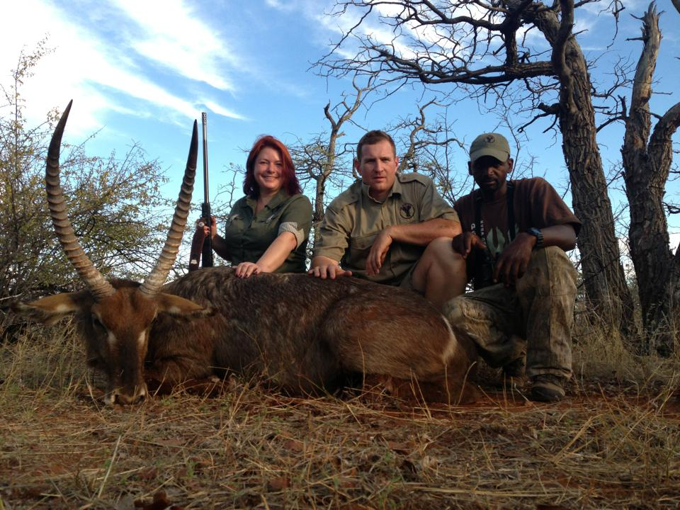women Hunters waterbuck