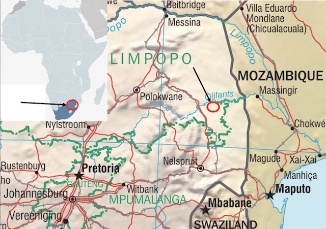 cape buffalo hunting map