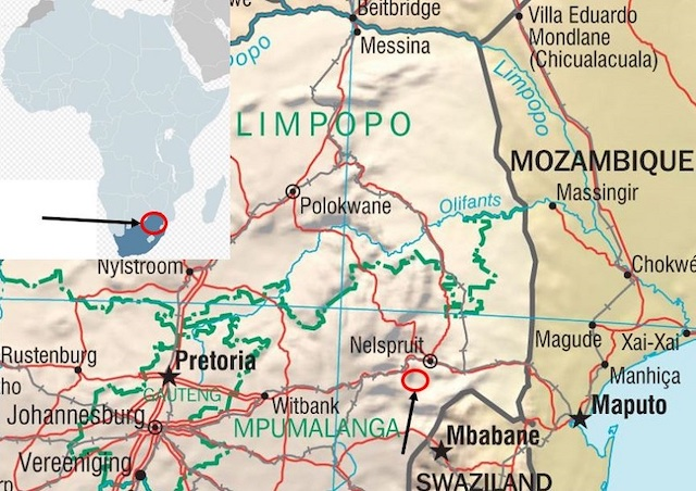 picture of south africa hunting map mpumalanga